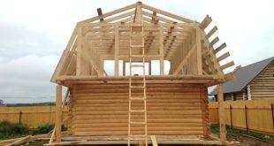 форма крыши для бани