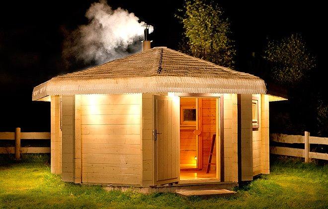 Не обычная каркасная баня на даче