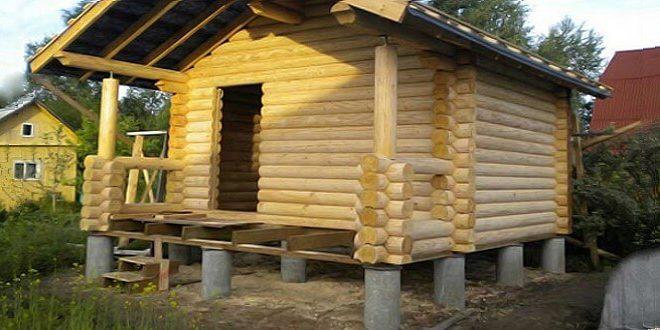 Столбчатый и свайный фундаменты под баню