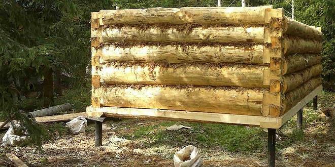 Как сделать фундамент для бани на сыром месте?