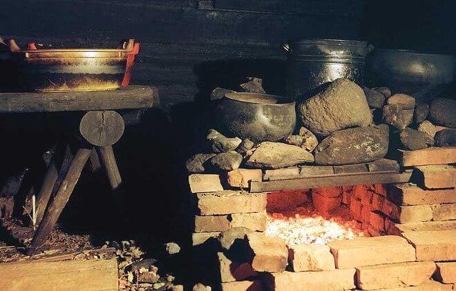 Печка для бани по чёрному из кирпича