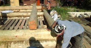 Строительство бани рабочими
