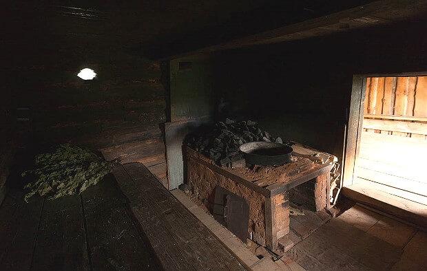 Баня по-чёрному в Удмуртии