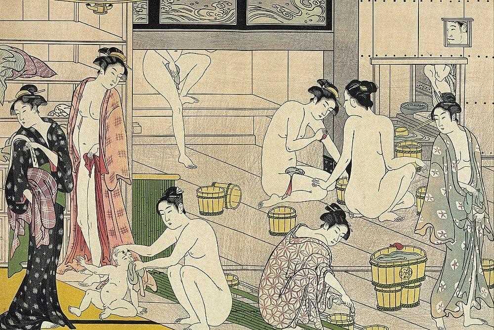 Старая баня в Японии